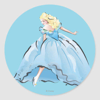 Cinderella And Her Glass Shoe Classic Round Sticker