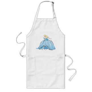 Cinderella And Her Glass Shoe Long Apron