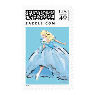 Cinderella And Her Glass Shoe Postage Stamp