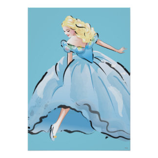 Cinderella And Her Glass Shoe Poster