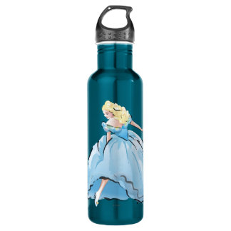 Cinderella And Her Glass Shoe Water Bottle