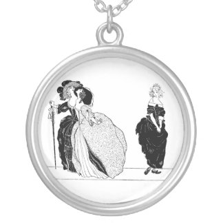 Cinderella and Her Snooty Stepsisters Round Pendant Necklace