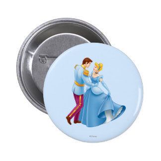 Cinderella and Prince Charming 2 Inch Round Button