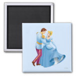 Cinderella and Prince Charming 2 Inch Square Magnet