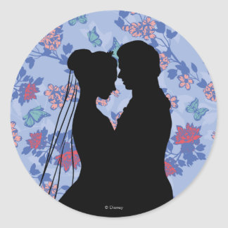 Cinderella And Prince Charming Classic Round Sticker