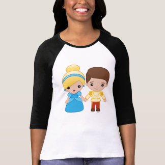 Cinderella and Prince Charming Emoji 2 T-Shirt