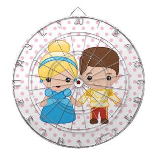 Cinderella and Prince Charming Emoji Dart Board