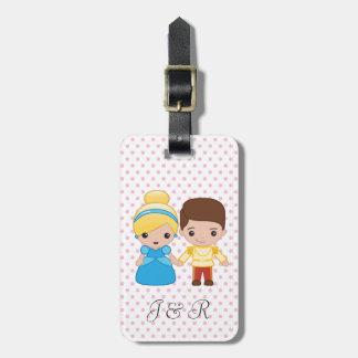 Cinderella and Prince Charming Emoji Luggage Tag
