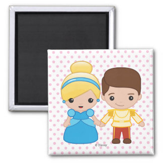 Cinderella and Prince Charming Emoji Magnet