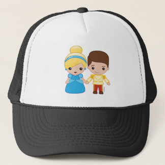 Cinderella and Prince Charming Emoji Trucker Hat