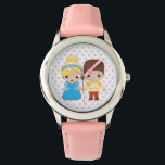 "Cinderella and Prince Charming Emoji Wristwatch<br><div class=""desc"">Express yourself with this super cute Cinderella and Prince Charming Emoji</div>"