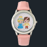 """Cinderella and Prince Charming Emoji Wristwatch<br><div class=""""desc"""">Express yourself with this super cute Cinderella and Prince Charming Emoji</div>"""