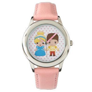 Cinderella and Prince Charming Emoji Wristwatch