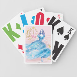 Playing Cards with Watercolor Cinderella design