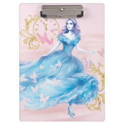 Clipboard with Watercolor Cinderella design
