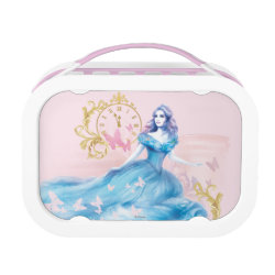 Pink yubo Lunch Box with Watercolor Cinderella design