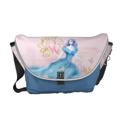 Rickshaw Medium Zero Messenger Bag with Watercolor Cinderella design