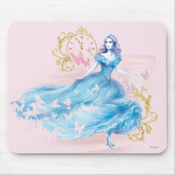 Mousepad with Watercolor Cinderella design