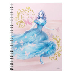Photo Notebook (6.5' x 8.75', 80 Pages B&W) with Watercolor Cinderella design