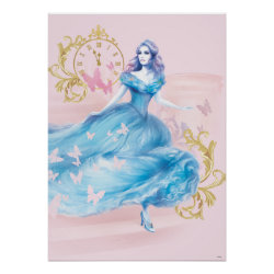 Matte Poster with Watercolor Cinderella design