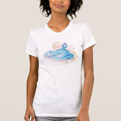 Women's American Apparel Fine Jersey Short Sleeve T-Shirt with Watercolor Cinderella design