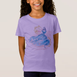 Girls' Fine Jersey T-Shirt with Watercolor Cinderella design