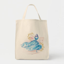 Grocery Tote with Watercolor Cinderella design