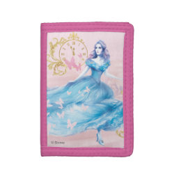 TriFold Nylon Wallet with Watercolor Cinderella design