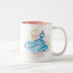 Two-Tone Mug with Watercolor Cinderella design