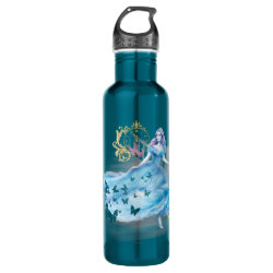 Water Bottle (24 oz) with Watercolor Cinderella design