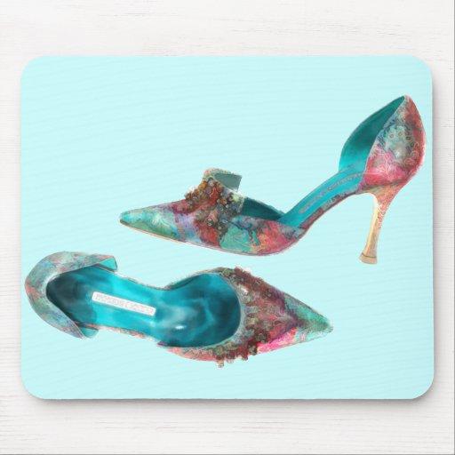 Cinderella Beaded Brocade Pumps Mouse Pad