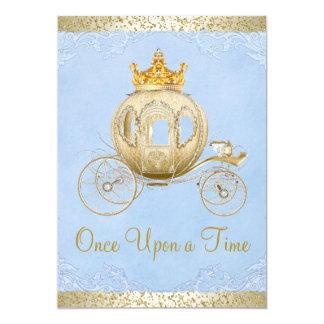 Cinderella Blue Once Upon a Time Princess Birthday Card