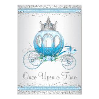 Cinderella Blue Princess Birthday Party Card