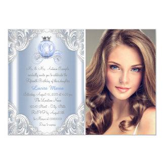 Cinderella Blue Princess Quinceanera Card