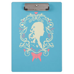 Clipboard with Cinderella Cameo Profile design