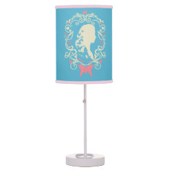 Table Lamp with Cinderella Cameo Profile design