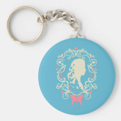 Basic Button Keychain with Cinderella Cameo Profile design
