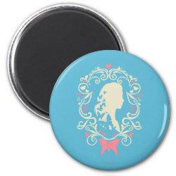 Round Magnet with Cinderella Cameo Profile design