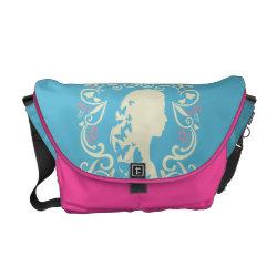 Rickshaw Medium Zero Messenger Bag with Cinderella Cameo Profile design