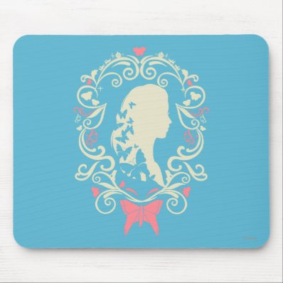 Cinderella Butterfly Cameo Mouse Pad