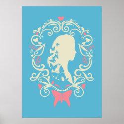 Matte Poster with Cinderella Cameo Profile design