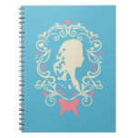 Cinderella Butterfly Cameo Spiral Note Book