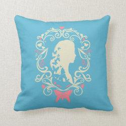 Cotton Throw Pillow with Cinderella Cameo Profile design