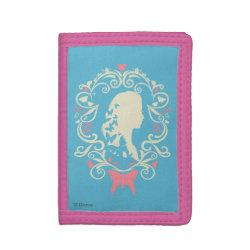TriFold Nylon Wallet with Cinderella Cameo Profile design