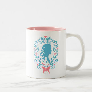 Cinderella Butterfly Cameo Two-Tone Coffee Mug