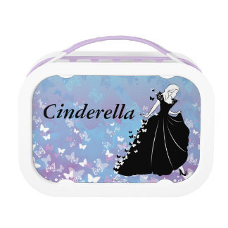 Cinderella Butterfly Dress Silhouette 2 Yubo Lunch Box