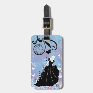 Cinderella Butterfly Dress Silhouette Bag Tag