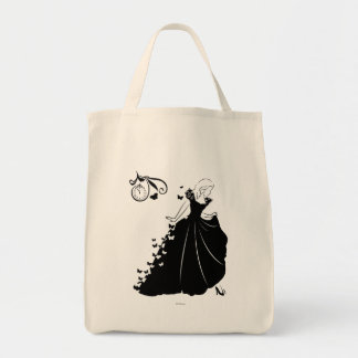 Cinderella Butterfly Dress Silhouette Tote Bag