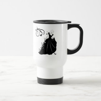 Cinderella Butterfly Dress Silhouette Travel Mug