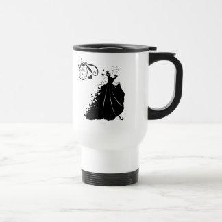 Cinderella Butterfly Dress Silhouette Travel Mug